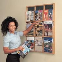 Wall Mounted Wooden Magazine Rack