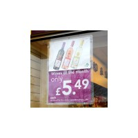 Window Poster Holder - Suction Cup Poster Pocket