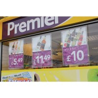 Window Poster Holder | Suction Cup Pocket | Discount Displays