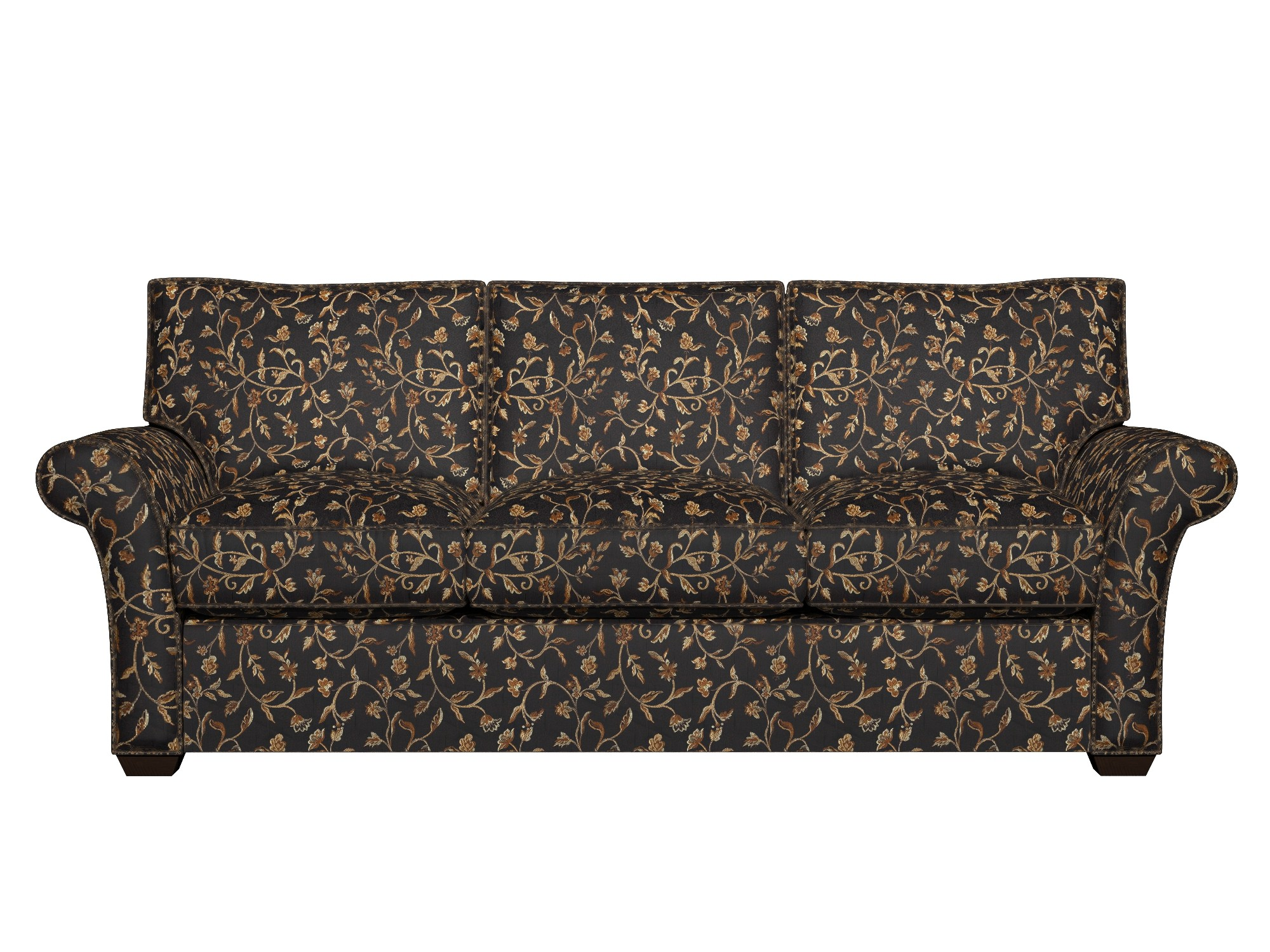 brocade sofa fabric best for with dogs a0011c midnight gold and ivory floral upholstery