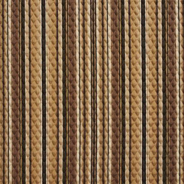 Black and Beige Striped Upholstery Fabric