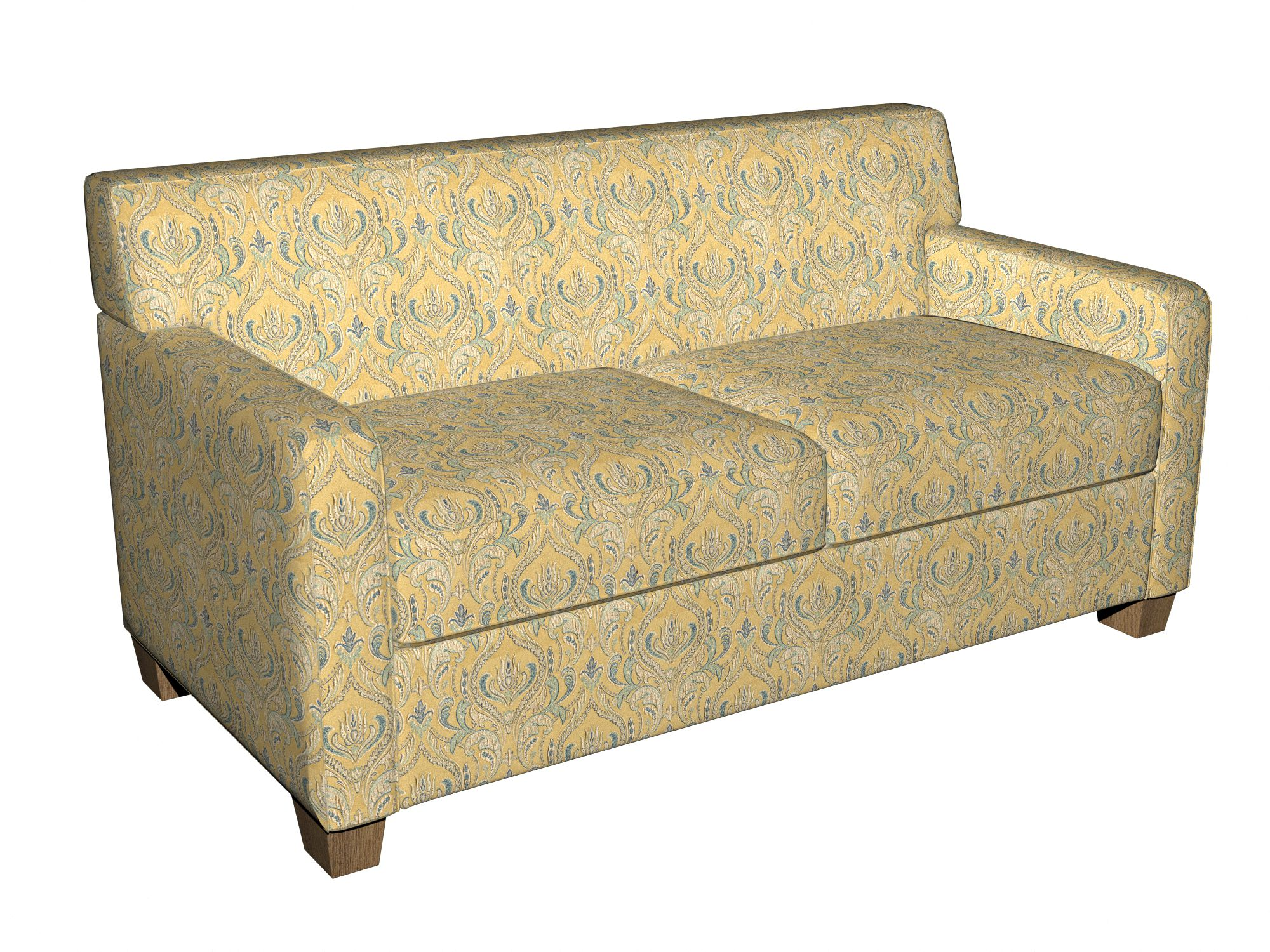brocade sofa fabric sofascore tennis mobile b0750a gold blue and teal large scale leaves damask