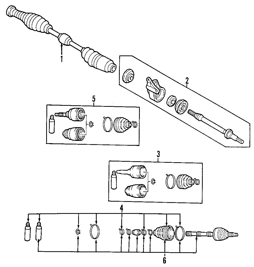 1992 Mazda MX-6 Cv axle assembly. Drive, manual, make