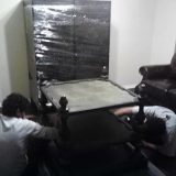 furniture disassembly and shrink wrap labor