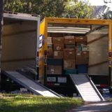moving truck witih boxes