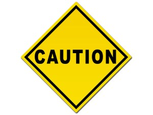 caution traffic sign
