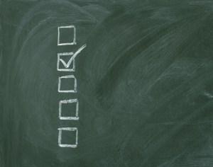 checklist on the chalkboard