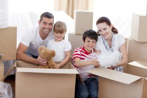 family moving with kids