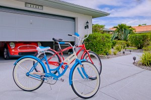schwinn bikes on driveway cape coral florida