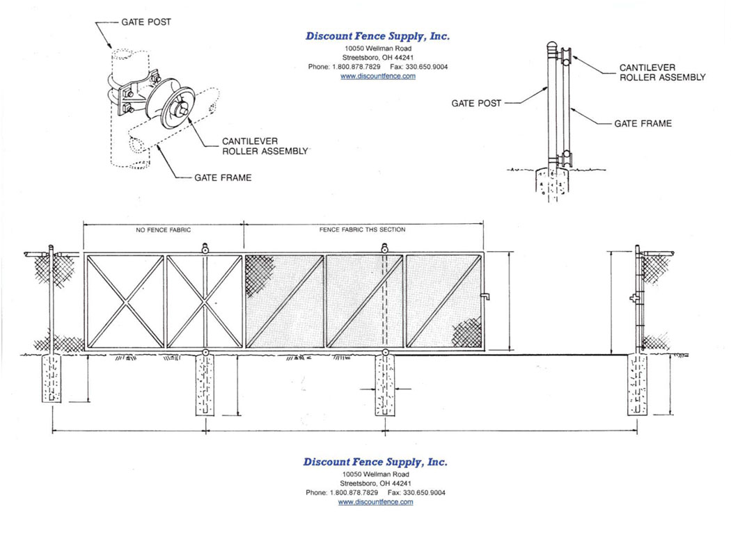 Cantilever Gate Fittings- Discount Fence Supply, Inc.