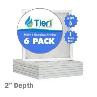 21x21x2 Merv 6 Replacement AC Furnace Air Filter 6 Pack | eBay