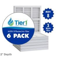 16x25x2 Merv 8 Replacement AC Furnace Air Filter (6 Pack ...