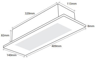 Flushlight LED Emergency Luminaire with Optional Self Test