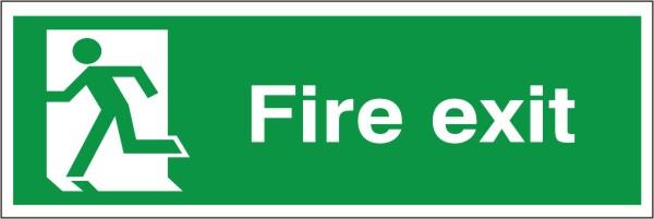 Fire Exit Sign Running Man Left  Discount Fire Supplies