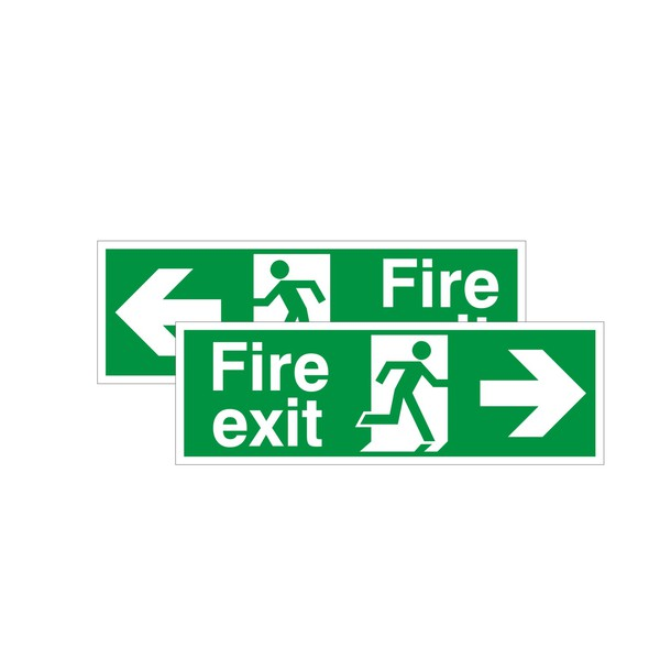 Double Sided Fire Exit Sign Arrow LeftRight  Discount