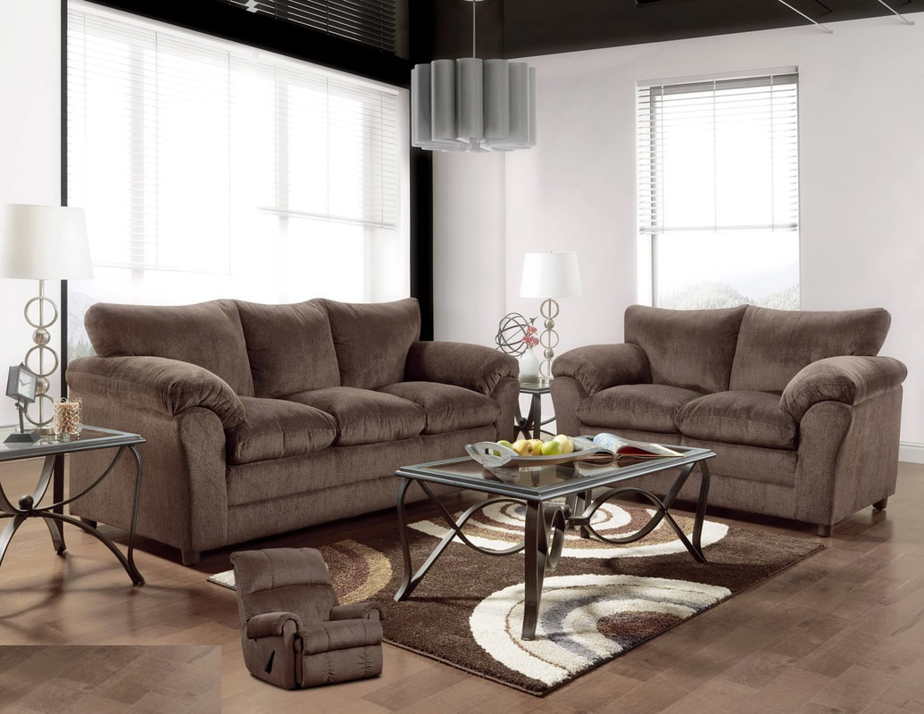 living room package contemporary table 7pc complete deal