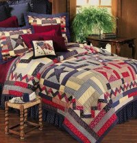 Dancing Star Quilt and Americana Bedding