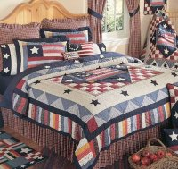 Old Glory Quilt and Americana Bedding