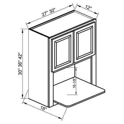 wbl2730 30 wall microwave cabinet white shaker