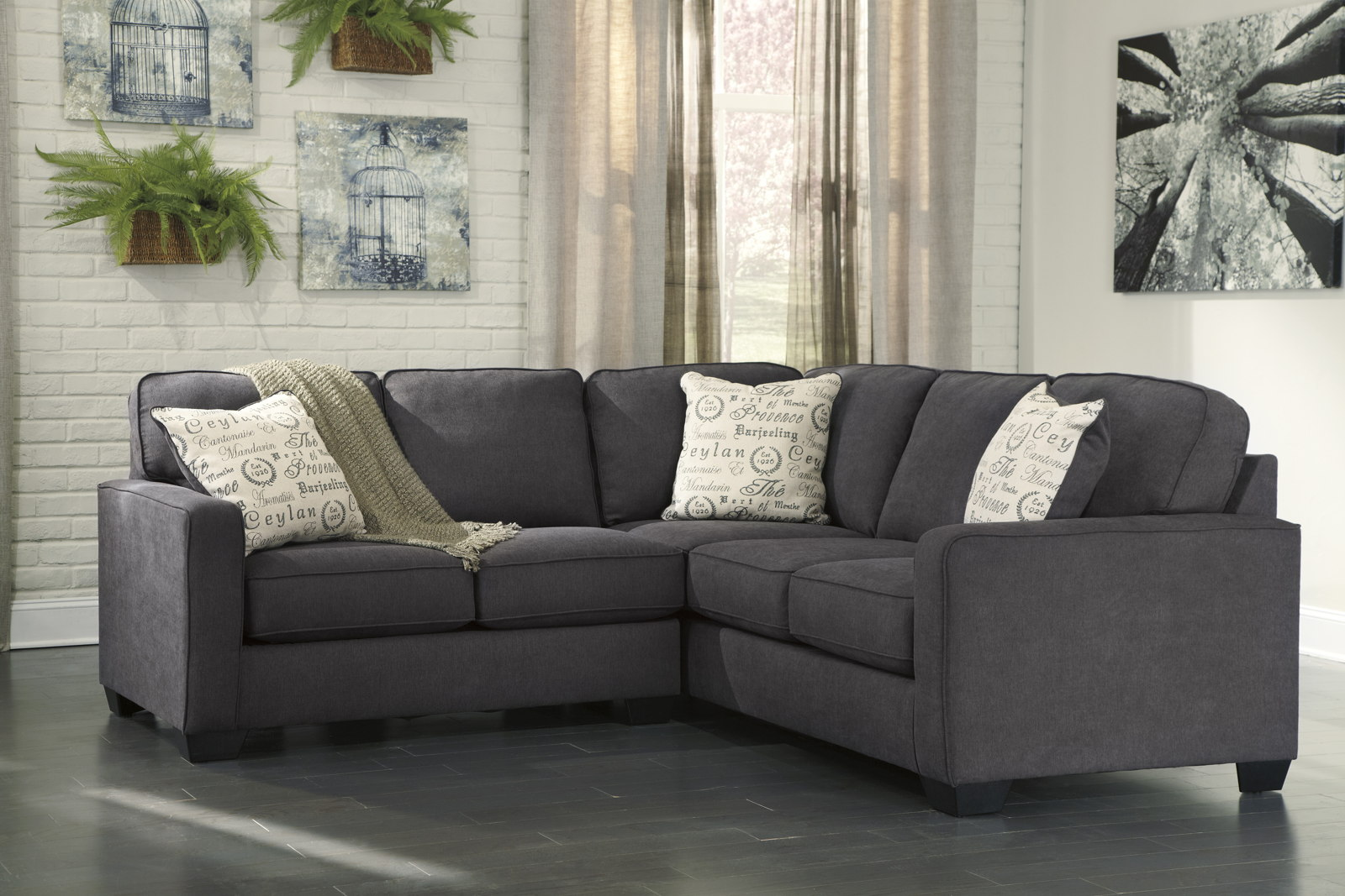Alenya 2 Piece RAF Sofa Sectional In Charcoal