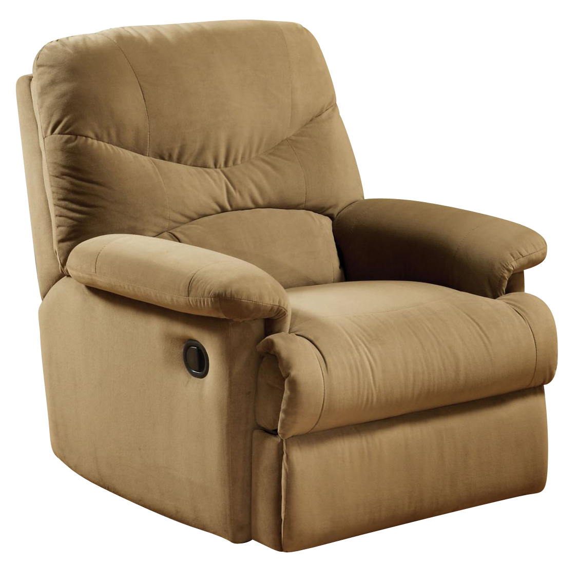 Acme Arcadia Microfiber Recliner In Light Brown 00627