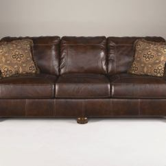 Ashley Axiom Leather Sofa Rooms To Go Gray Sleeper In Walnut 4200038