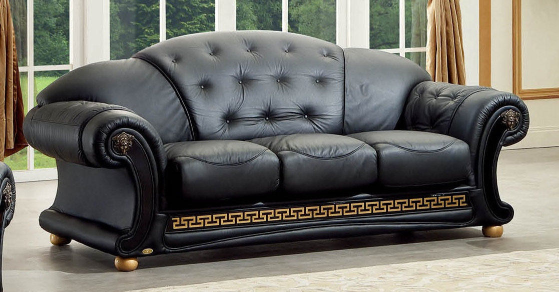ESF Furniture Versace Sofa in Rich Ebony