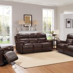 Leather Italia Shae Fresno 2 Piece Living Room Set In Brown