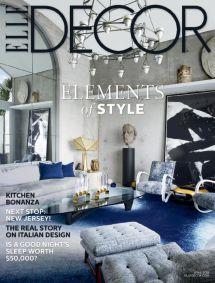 2018 Magazine Cover ELLE Decor