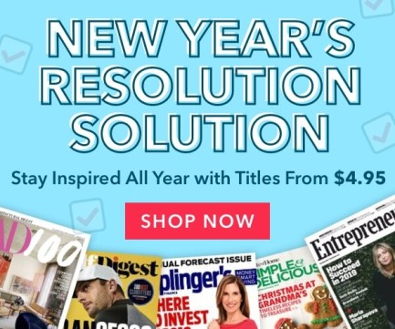 Magazines for Resolutions on Sale