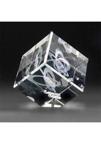 3D Crystal Laser Engraved Jewel Cubes Personalized for