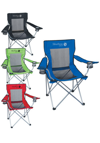 folding chair embroidered wedding cover hire burton on trent personalized camping chairs discountmugs mesh with carrying bag