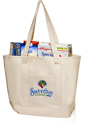 front pocket canvas tote