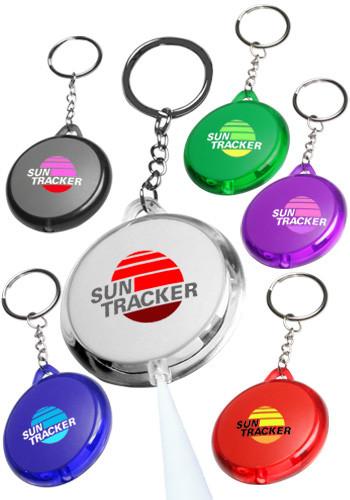 round translucent light keychains