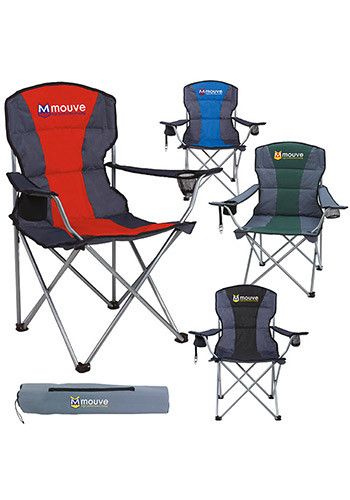 folding chair embroidered roman lounge personalized camping chairs discountmugs custom premium stripe