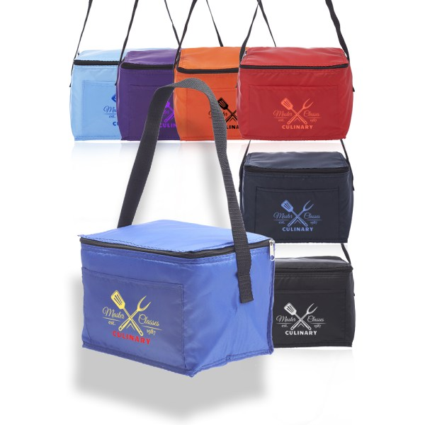 Personalized 6 Pack Cooler Lunch Bags Lun01