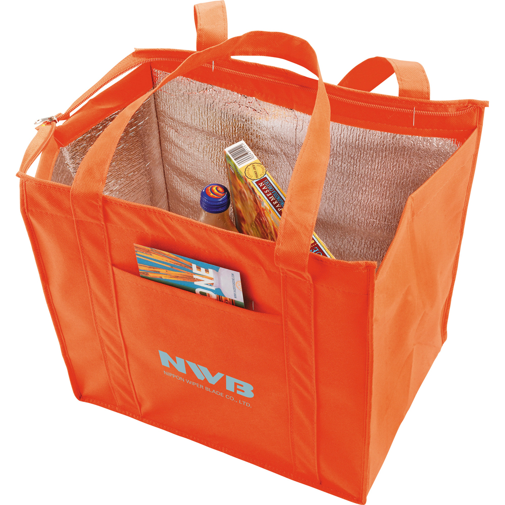 Printed Hercules Insulated Customized Grocery Tote Bags SM7431