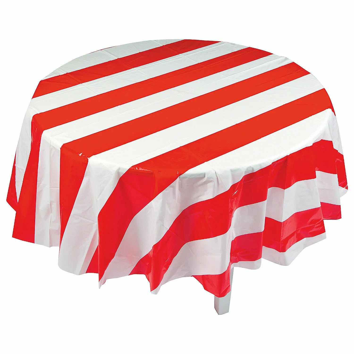 Red Amp White Striped Circus Carnival Party Round Plastic