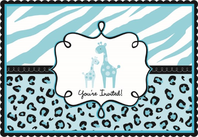 Sweet Safari Boy Babyshower Invitations 20ct Party Supplies