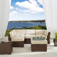 Strathwood Griffen Wicker Sectional Patio Furniture ...