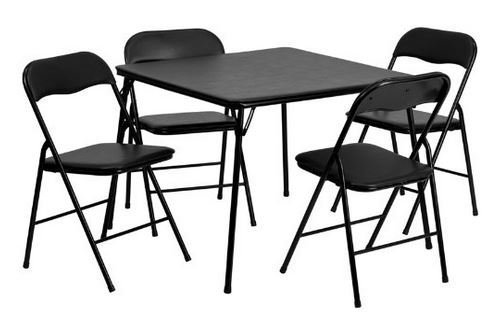 Save 113 5pc Folding Card Table and Chair Set only 59