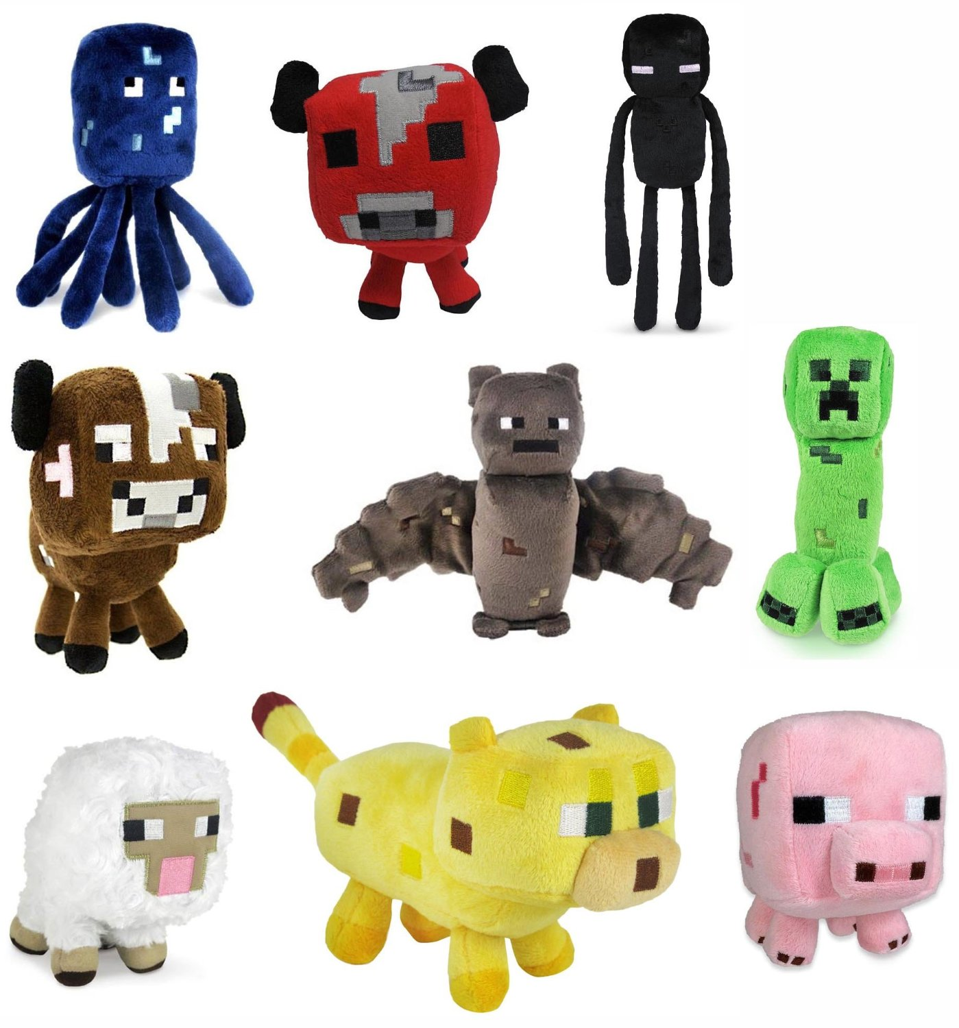 Set Of 9 Minecraft 7 Assorted Plushies Only 21 39