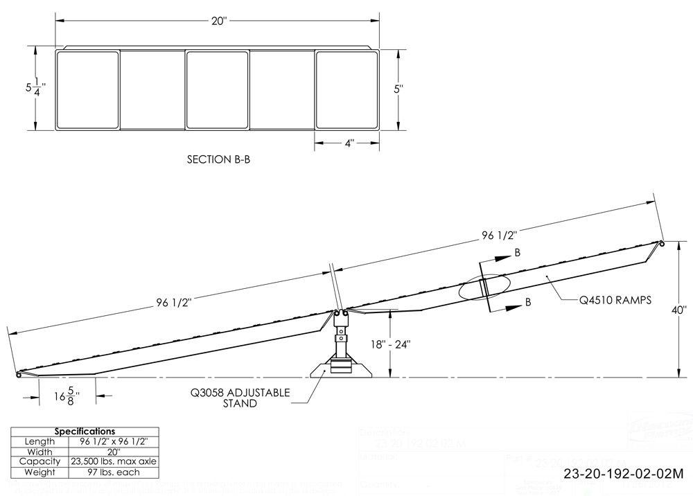 Modular Step Deck Trailer Ramps 23,500lb Capacity