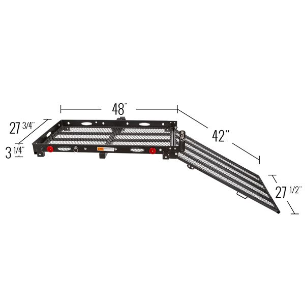 Silver Spring Steel Folding Trailer Hitch Scooter Carrier