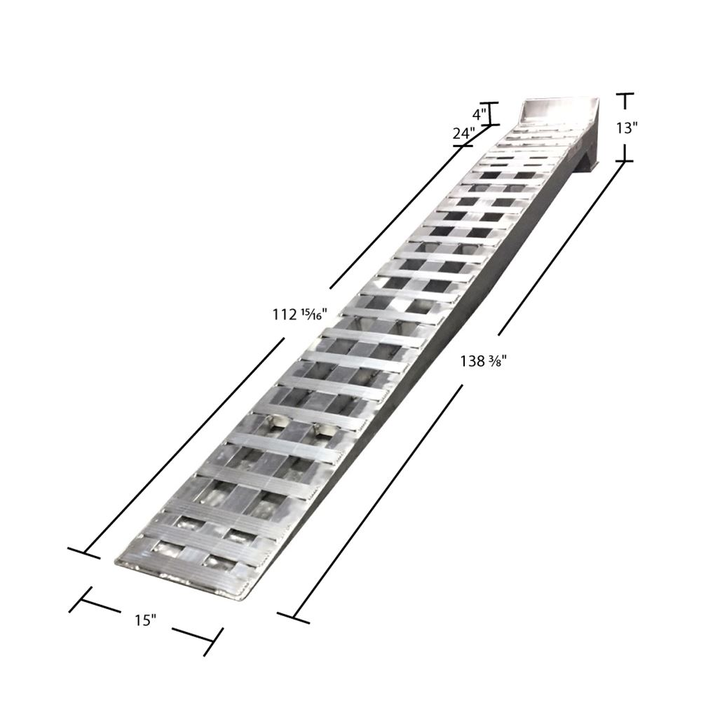 Heavy Duty Aluminum Low Profile Semi-Truck Service Ramps