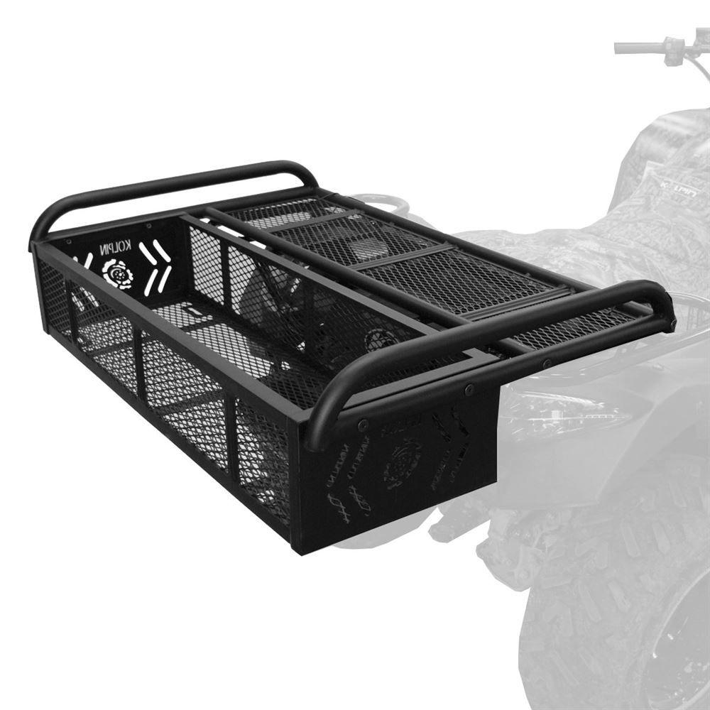 hight resolution of 53350 kolpin steel mesh atv rack drop basket