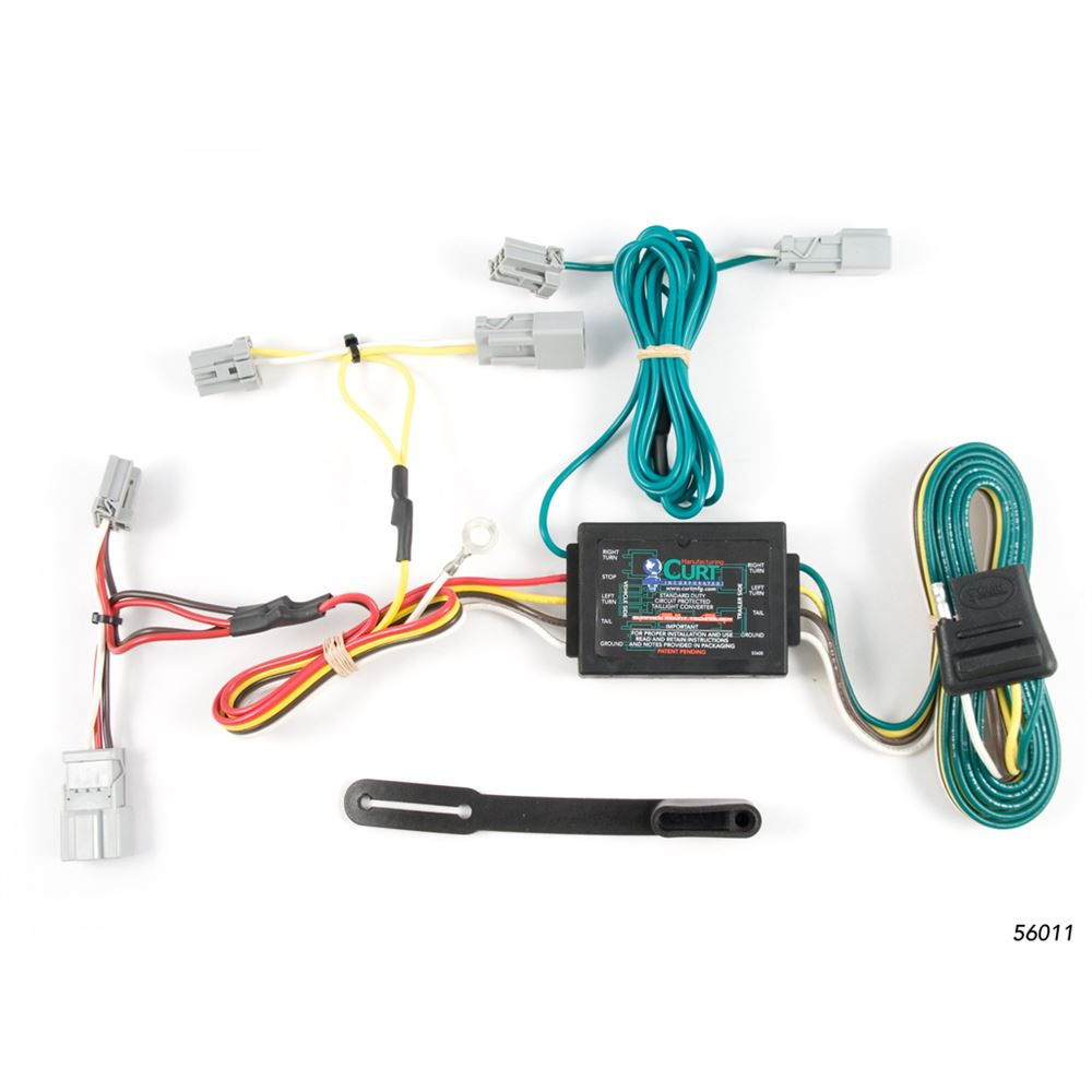 curt custom vehicle to trailer wiring harness 56011 [ 1000 x 1000 Pixel ]