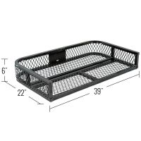 Black Widow Steel Mesh ATV Rear Rack Basket | Discount Ramps
