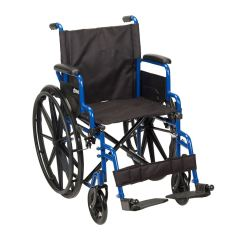 Drive Wheel Chair Retro Red Kitchen Chairs Medical Blue Streak Wheelchair With Flip Back Desk Arms And Bls18fbd Sf Swing Away