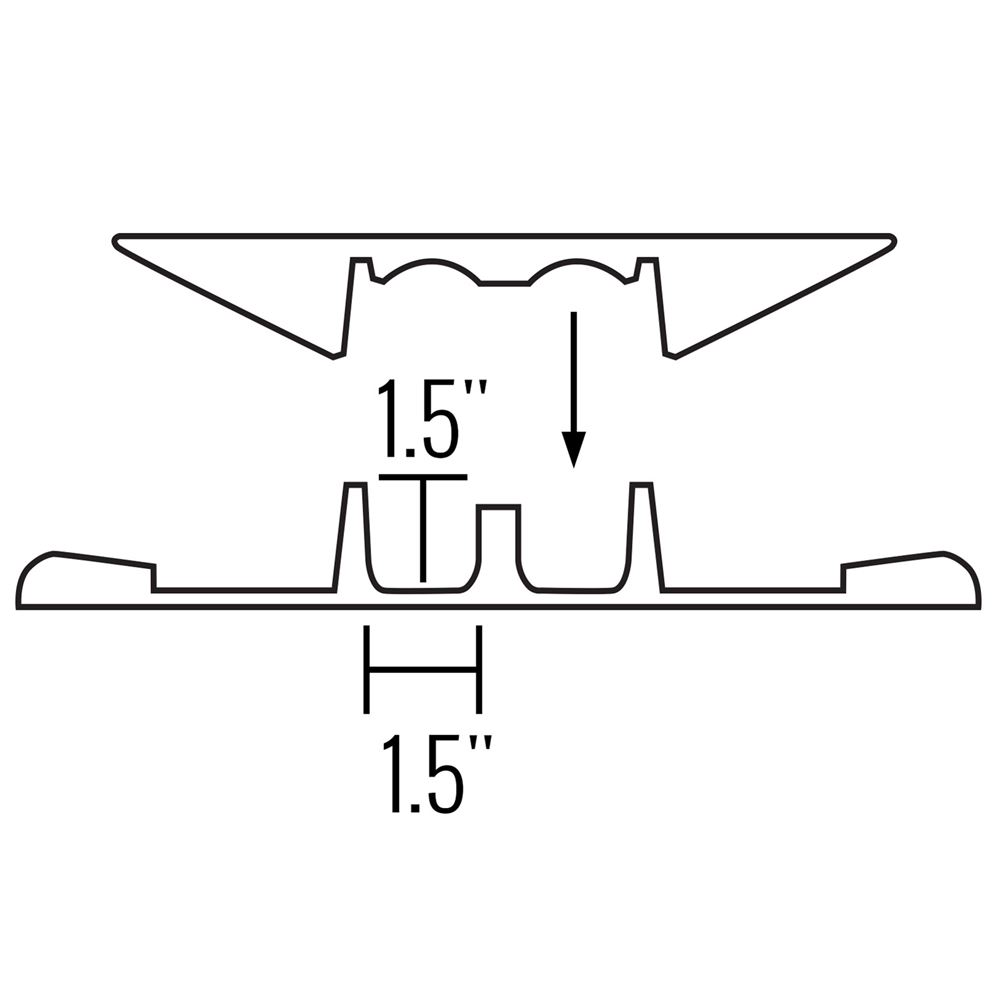 2-Channel Cross-Link Cable Protector Bridge for 5-Channel